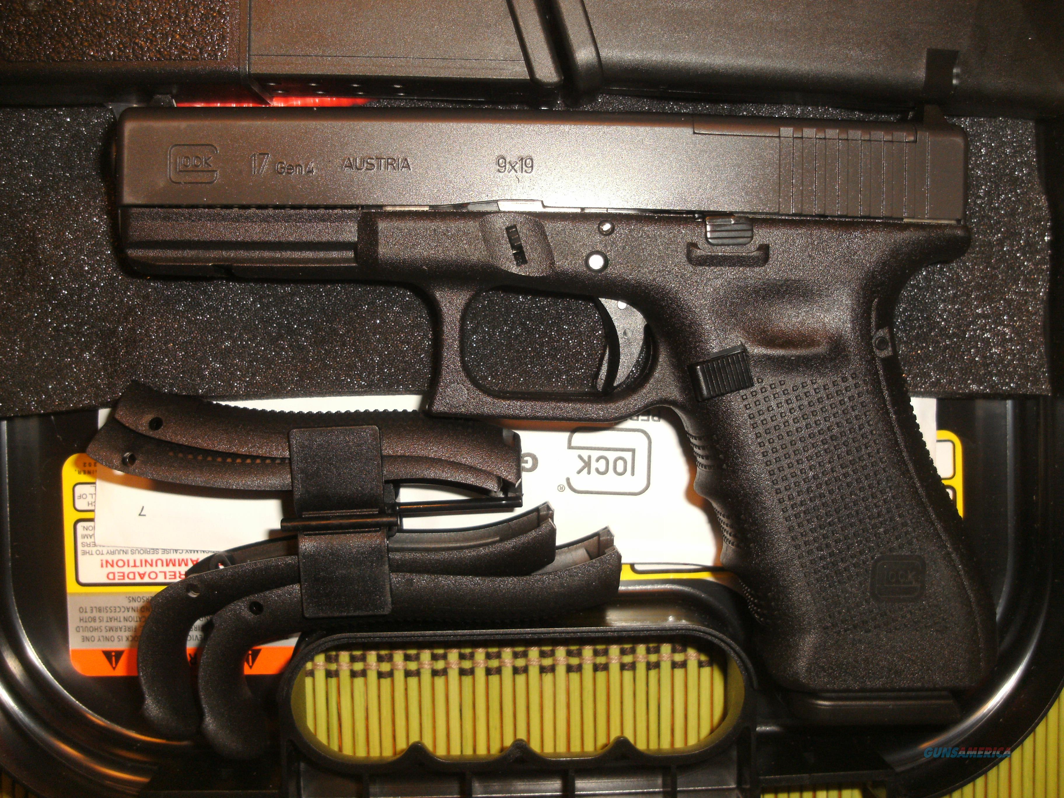 GLOCK 17 GEN 4 MOS - READY FOR OPTIC - NEW IN BOX - LOCAL PICKUP OK OR SHIP TO YOUR FFL  Guns > Pistols > Glock Pistols > 17