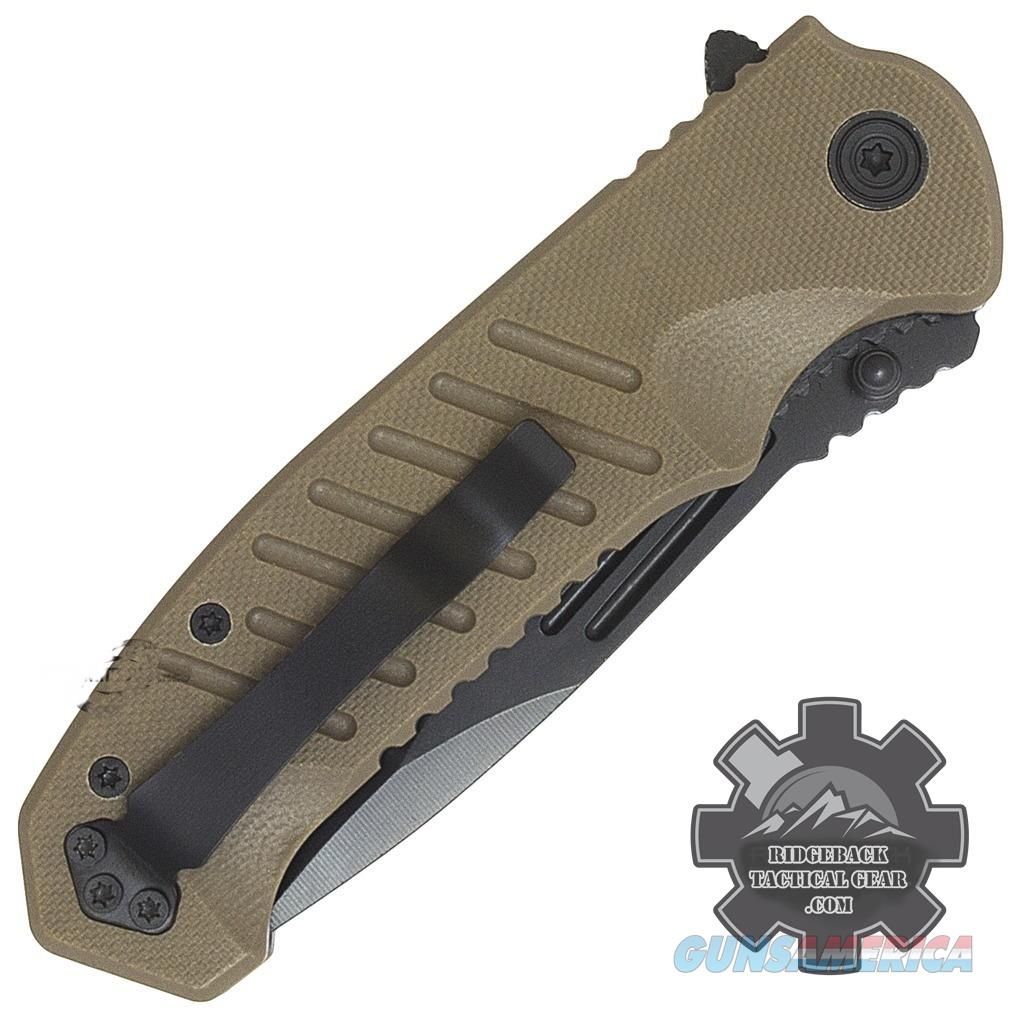 "8.25"" MTECH USA COMBO EDGE BROWN G10 TACTICAL SPRING ASSISTED POCKET KNIFE Blade Free Shipping!  Non-Guns > Knives/Swords > Knives > Folding Blade > Imported"