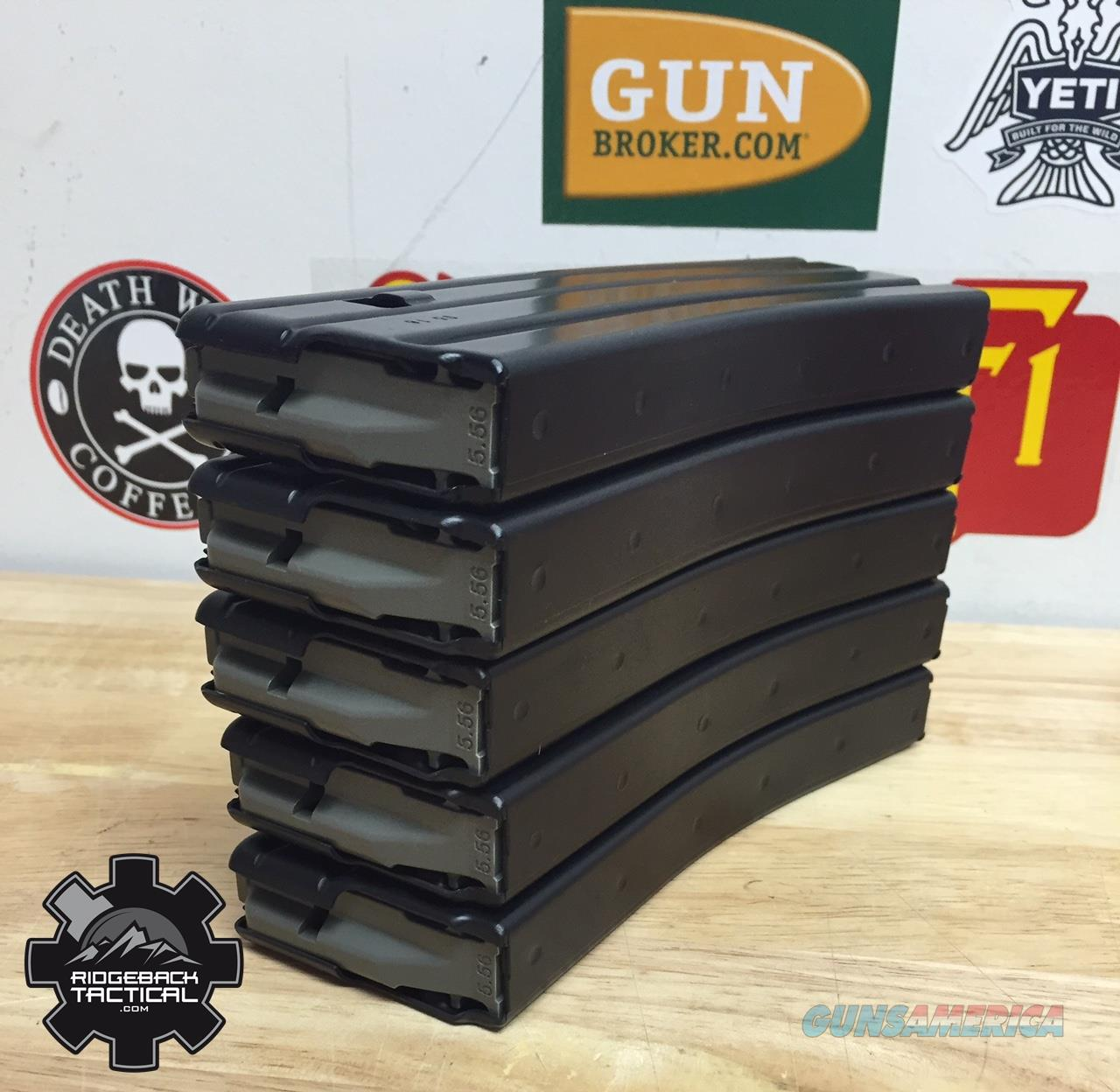 5 Pack AR 5.56 30 Round Black Teflon Mags Milspec Magpul D&H PSA Bravo Company FREE SHIPPING! NO CC FEES  Non-Guns > Magazines & Clips > Rifle Magazines > AR-15 Type