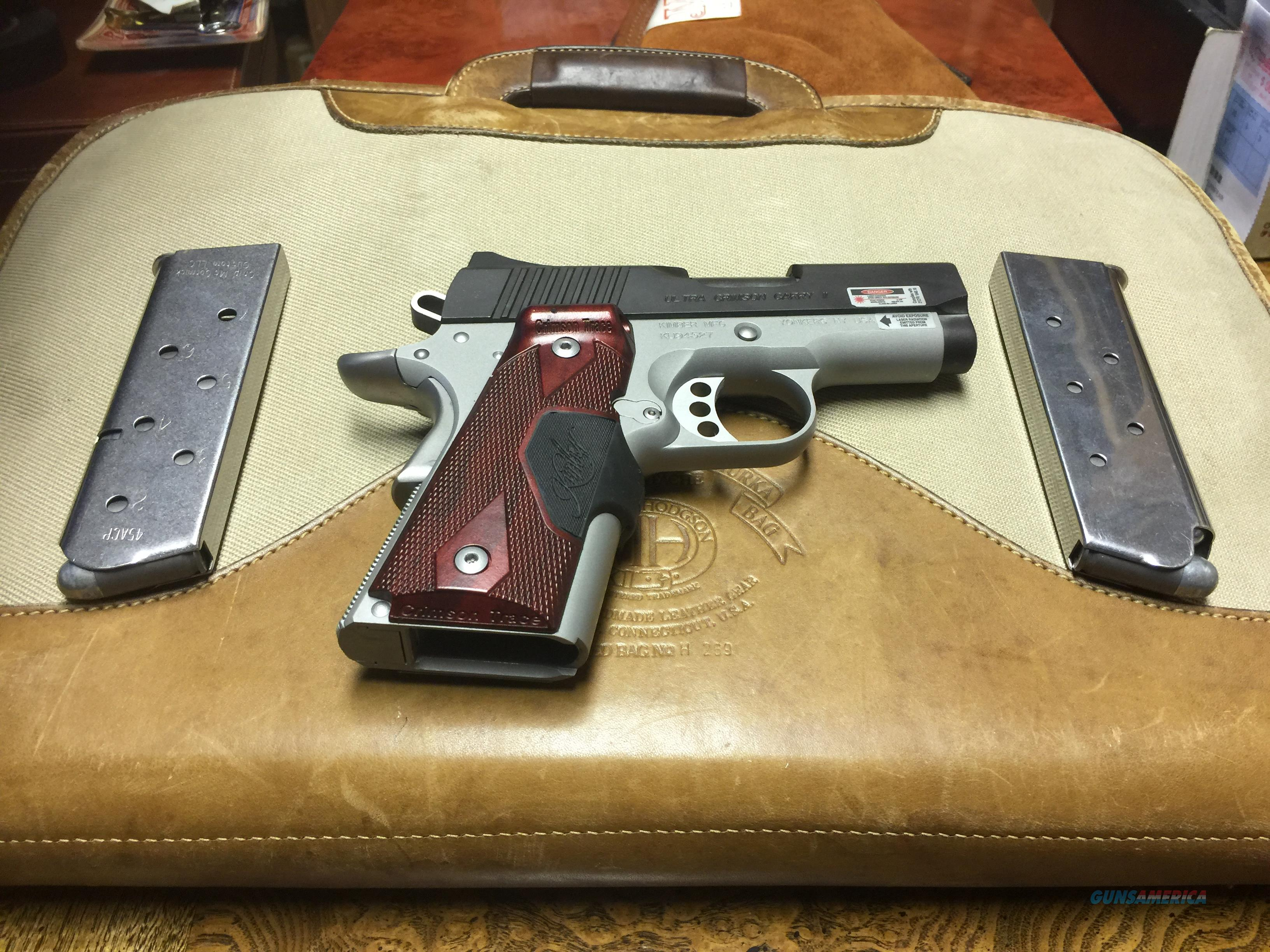 KIMBER ULTRA CARRY II WITH CRIMSON TRACE  Guns > Pistols > Kimber of America Pistols > 1911