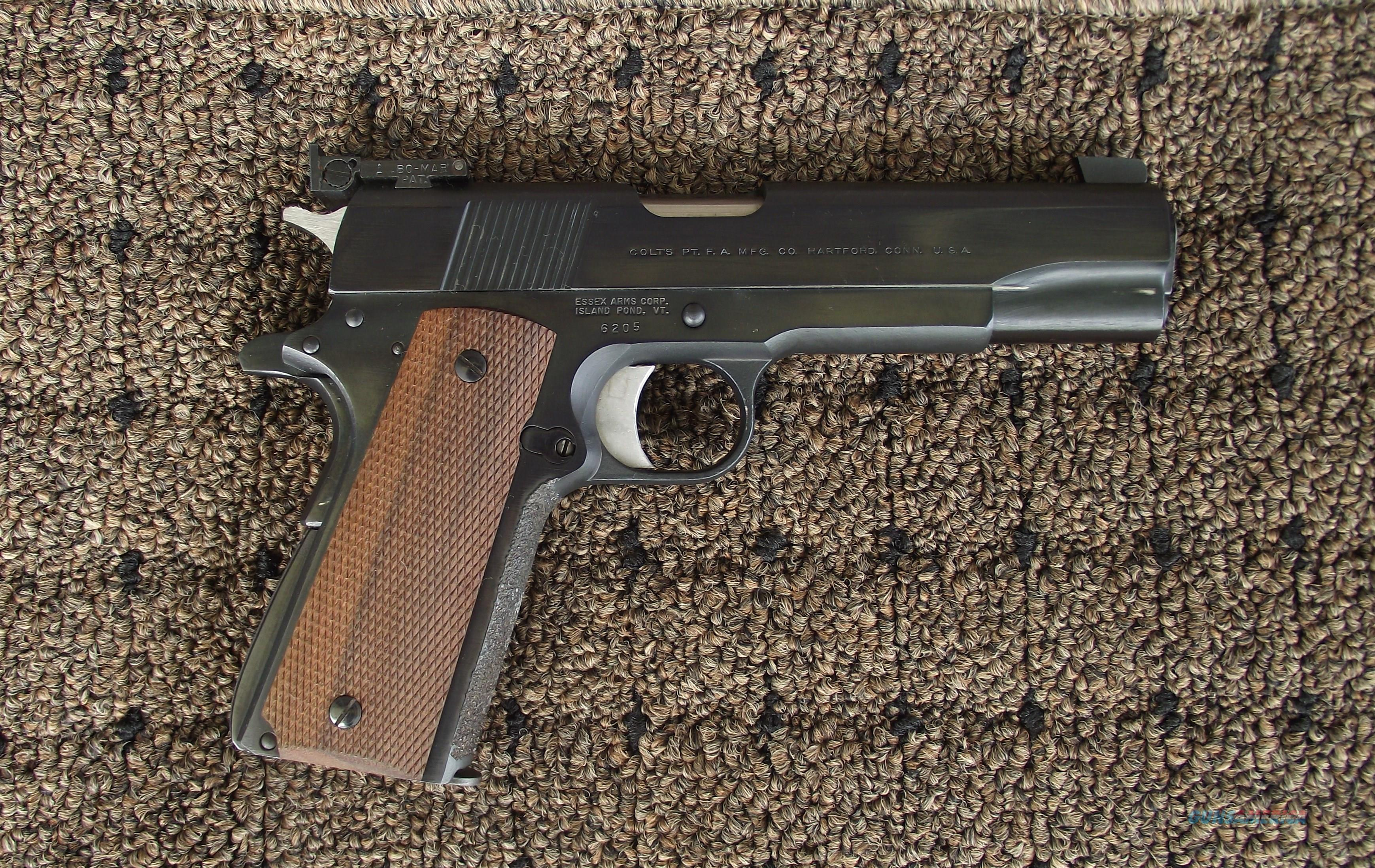 ESSEX ARMS MODEL 1911 ,45 ACP PISTOL, WITH COLT SLIDE  Guns > Pistols > 1911 Pistol Copies (non-Colt)