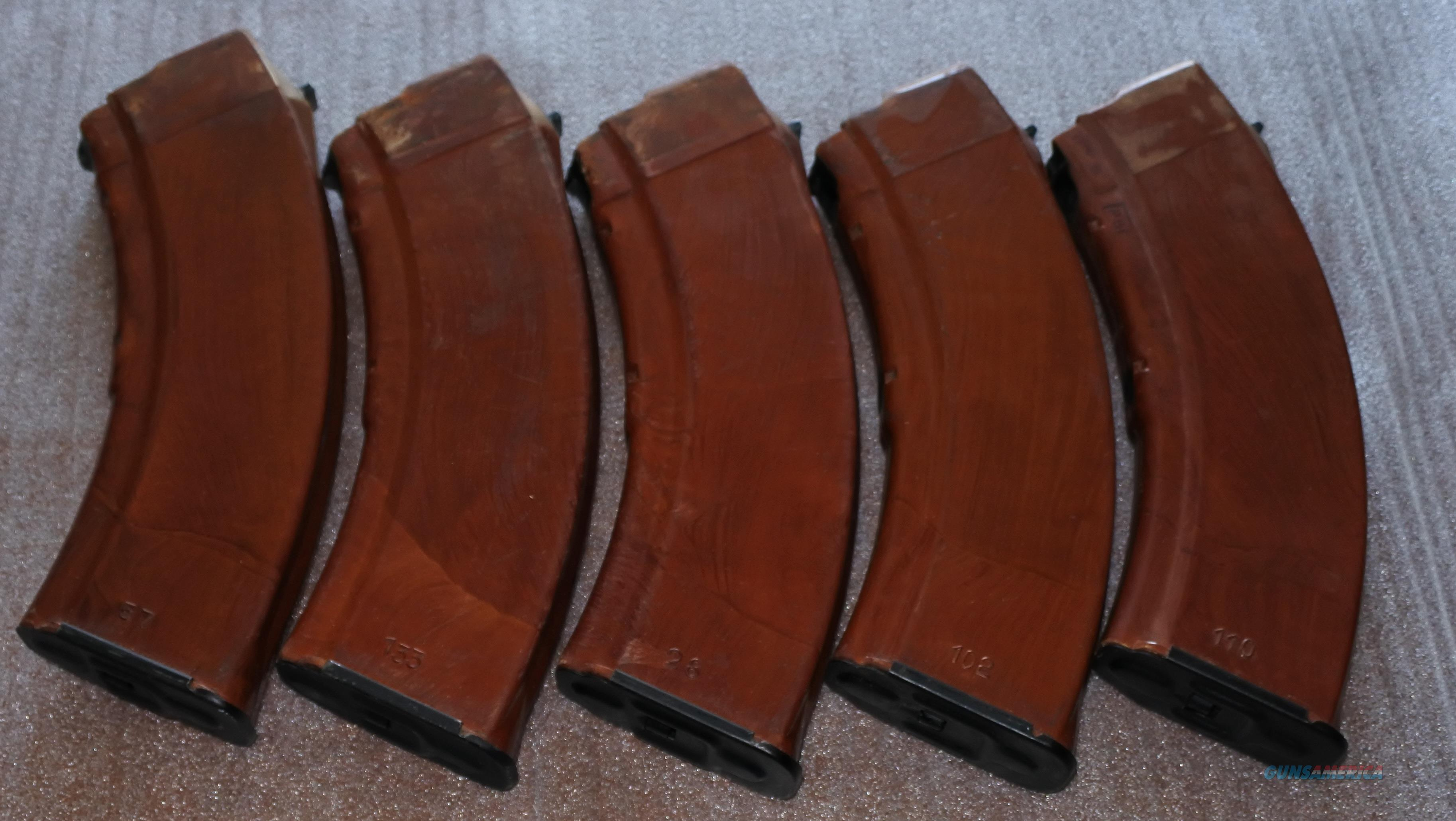 17PC New n Used AK Mag Bundle - 5X Excellent Russian Bakelite's, 3X Yugo 30rd  BHO, Radom Poland 30RD Polymer, 2x Surplus Mags, 5z Tapco 30RD and a 20RD Korean Mag  Non-Guns > Magazines & Clips > Rifle Magazines > AK Family