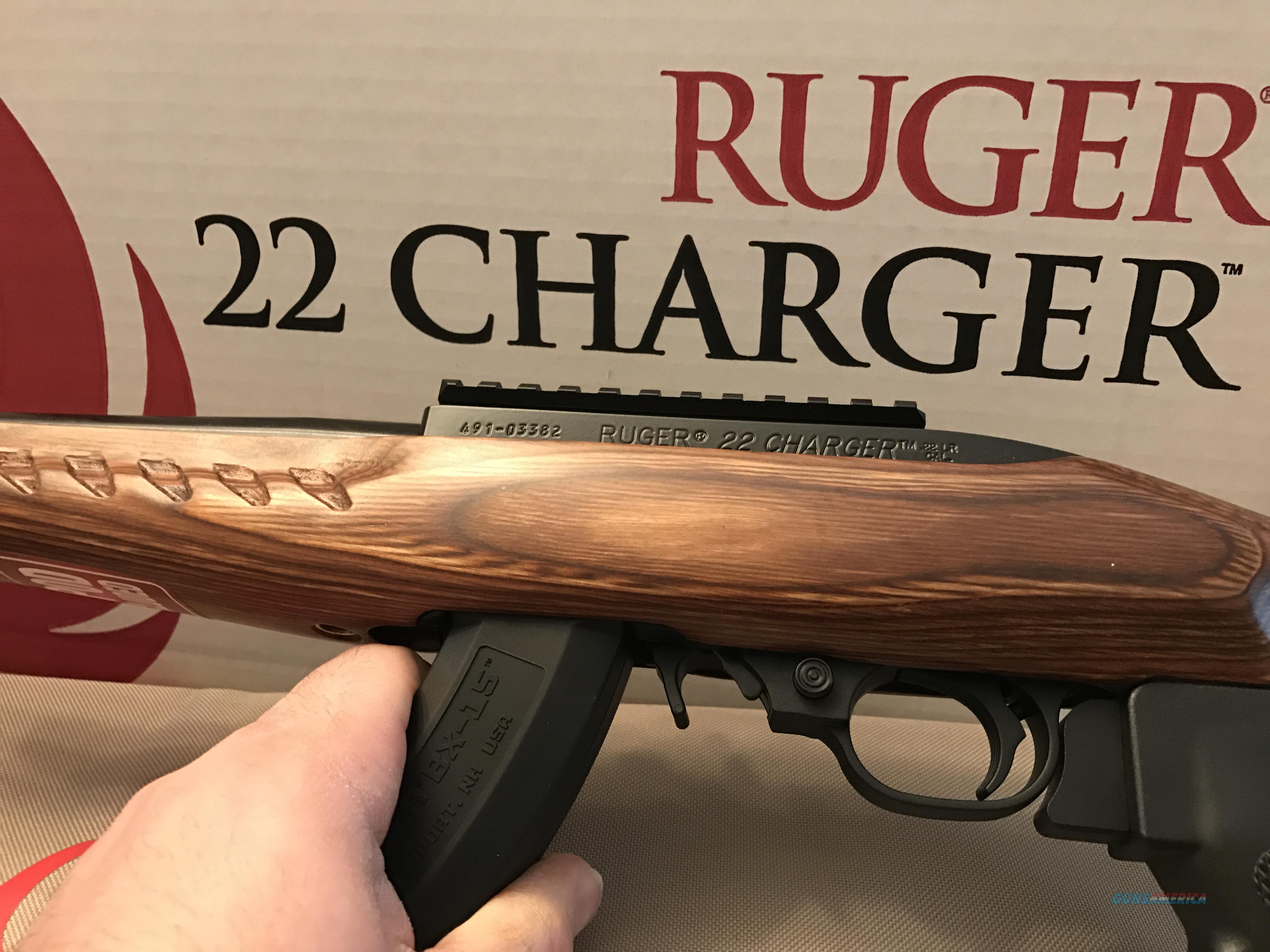 RUGER CHARGER 22LR - BROWN LAMINATE  Guns > Pistols > Ruger Semi-Auto Pistols > Charger Series