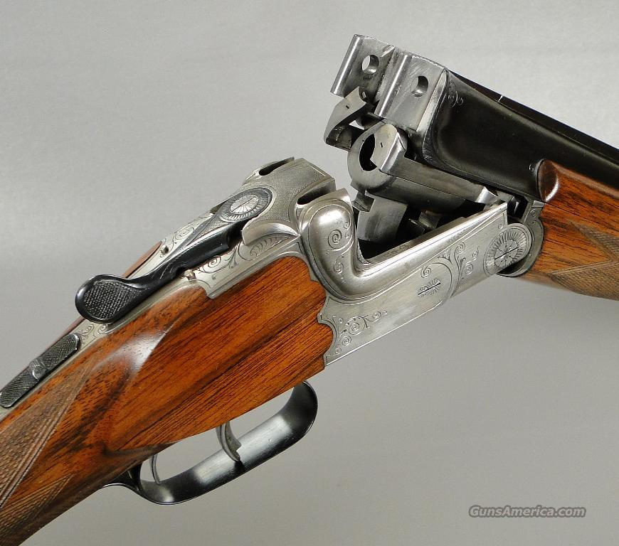 Merkel 220 Double Rifle in 30-06 with Classic Oak and Leather Fitted Hard Case  Guns > Rifles > Merkel Rifles