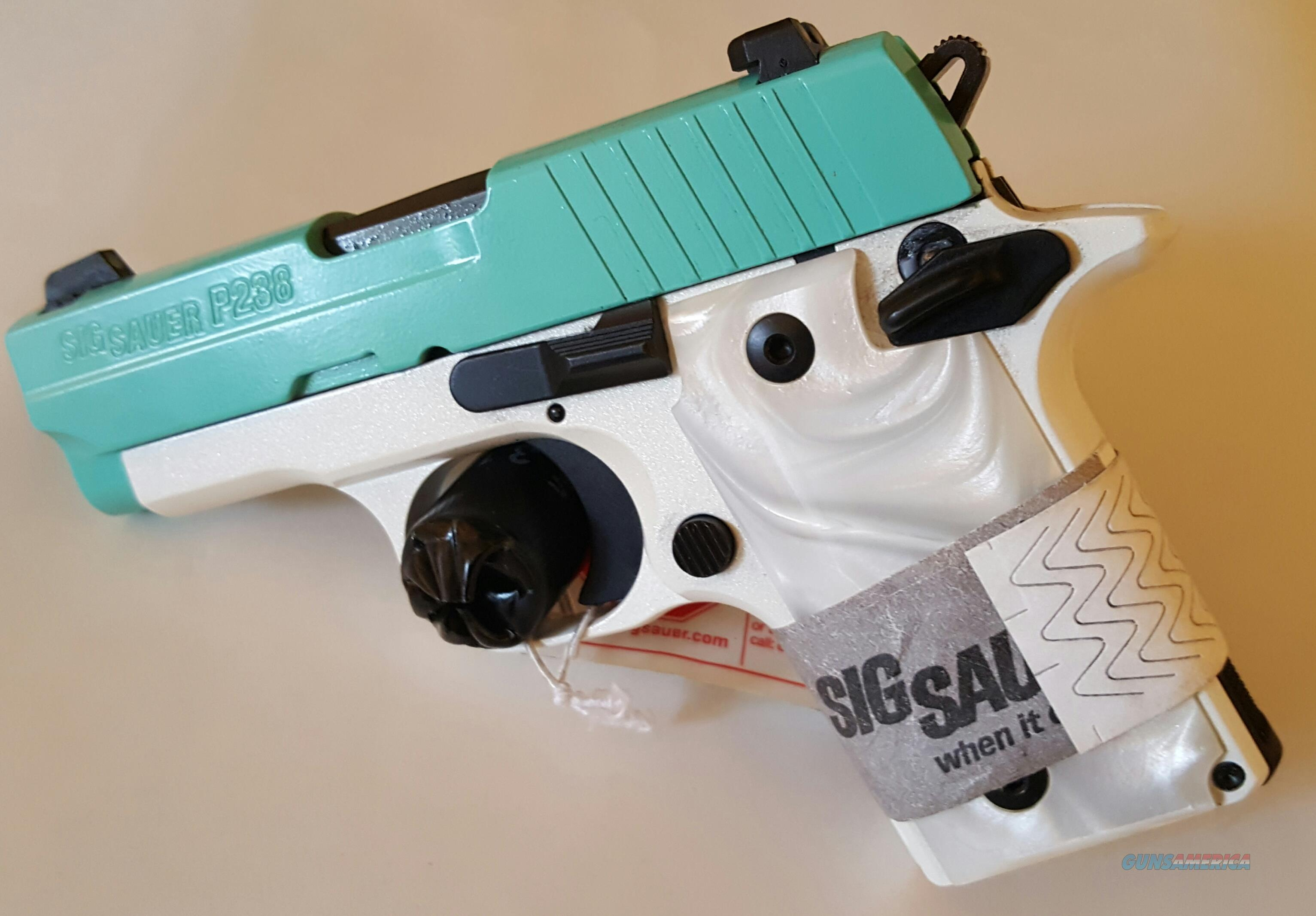 Beautiful Sig Sauer P238 in Robins Egg Blue SHOT Show Special Edition - NIB  Guns > Pistols > Sig - Sauer/Sigarms Pistols > P238