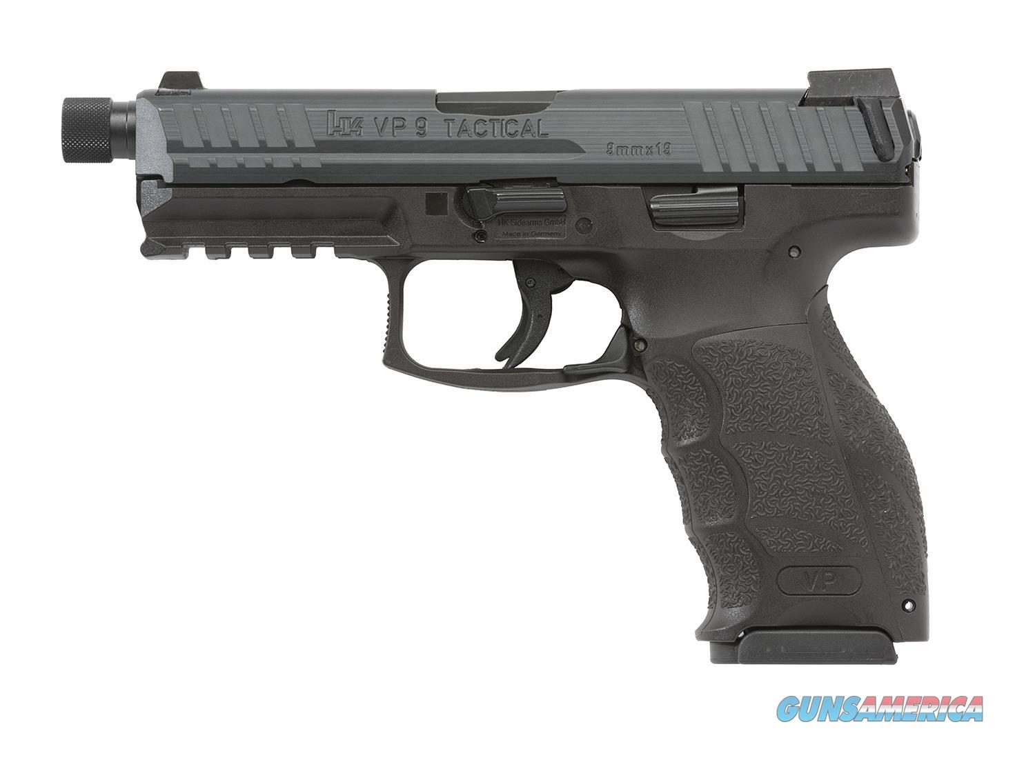 "HK VP9 Tactical 9mm 4.07"" 15+1 - Threaded Barrel***new in box***  Guns > Pistols > Heckler & Koch Pistols > Polymer Frame"
