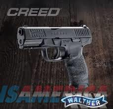 "Walther Creed 9mm 4"" Black 16rd*** NEW IN BOX***2815516  Guns > Pistols > Walther Pistols > Post WWII > PPK Series"
