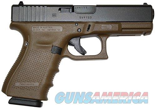 Glock G19 Gen 4 Flat Dark Earth 9mm  Guns > Pistols > Glock Pistols > 19/19X