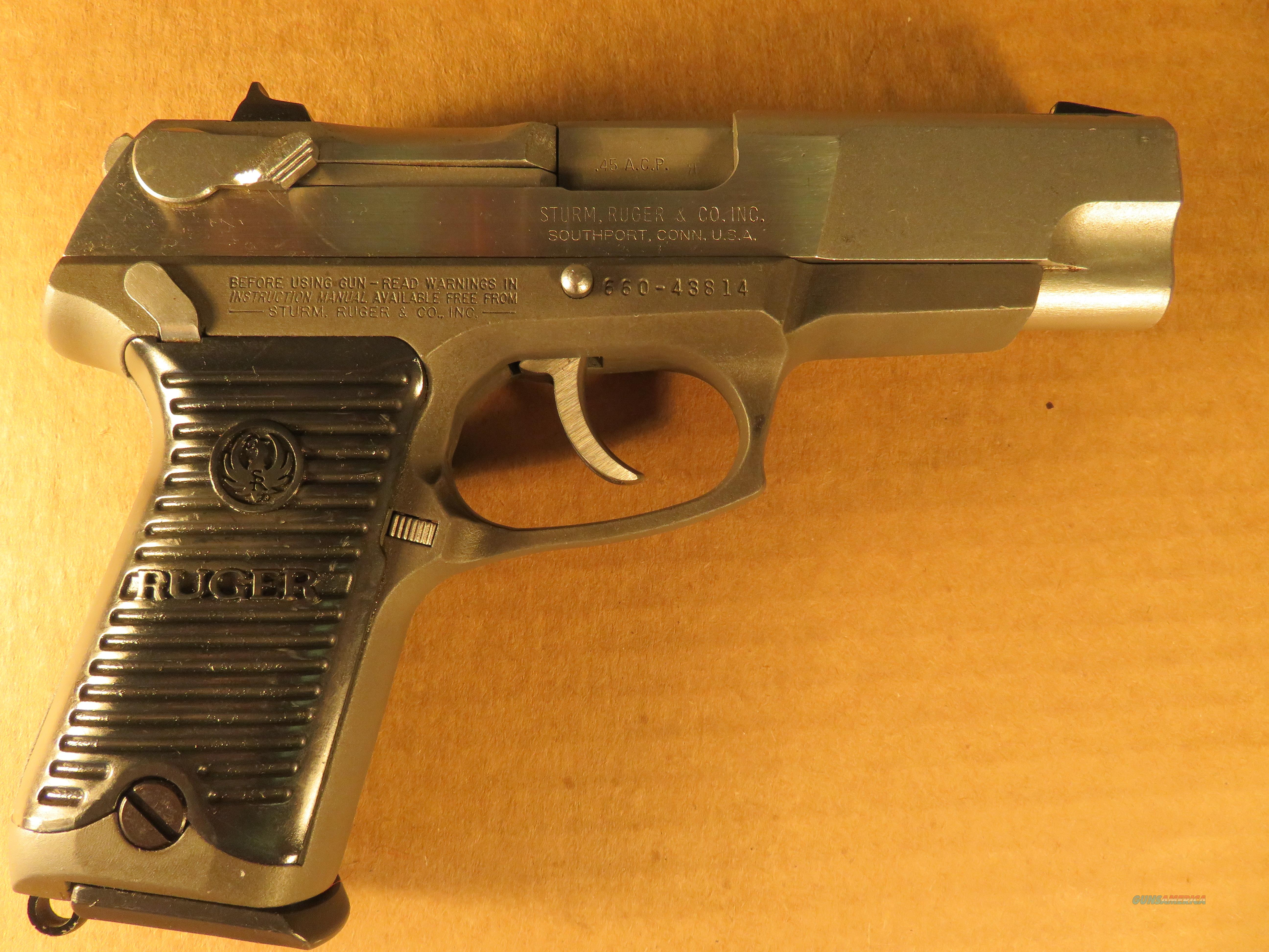 Ruger P-90- 45 acp. stainless   Guns > Pistols > Ruger Semi-Auto Pistols > P-Series