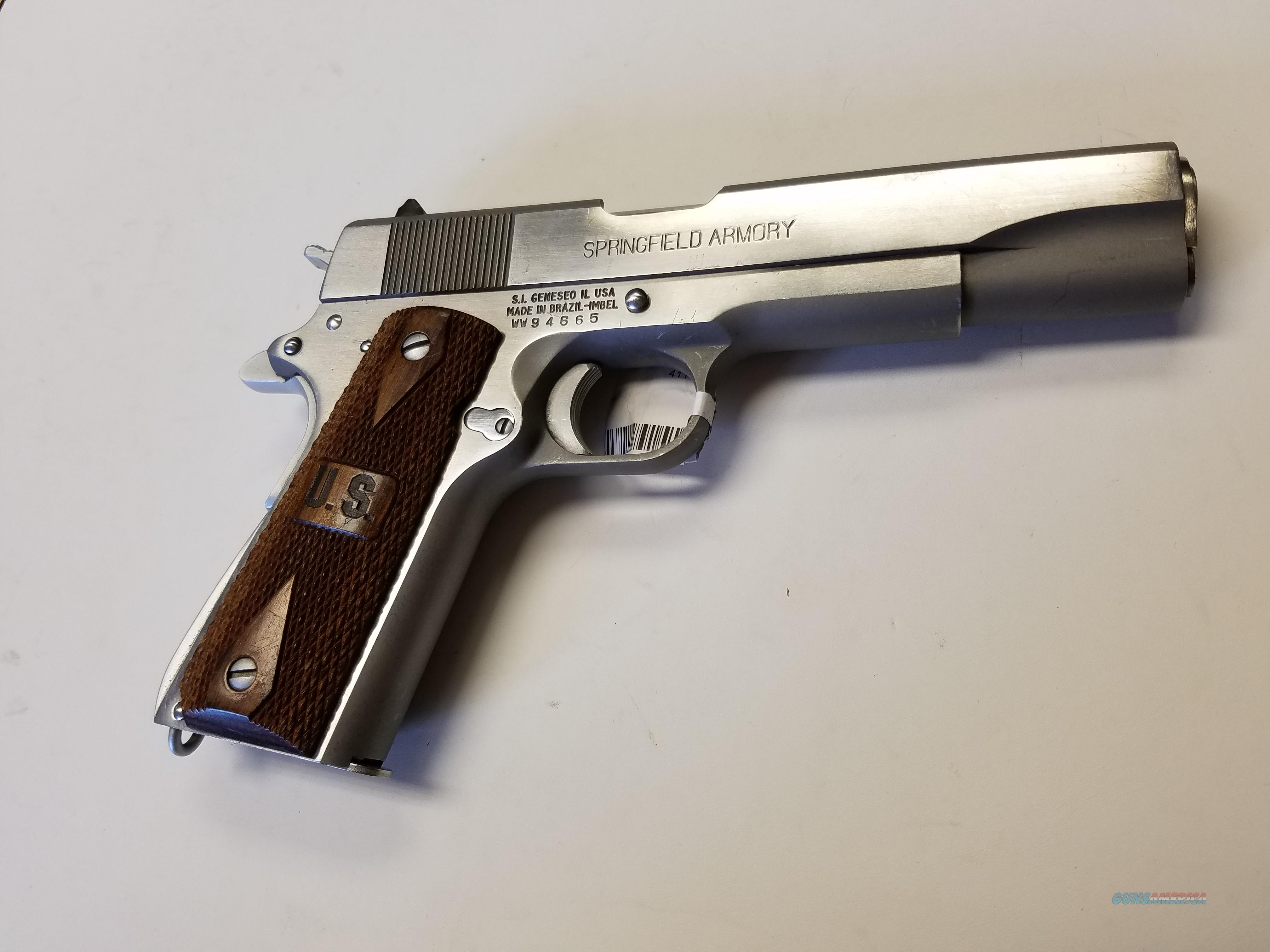 Springfield 1911-A1 Stainless Steel 5'' with 1 Colt Mag  Guns > Pistols > Springfield Armory Pistols > 1911 Type