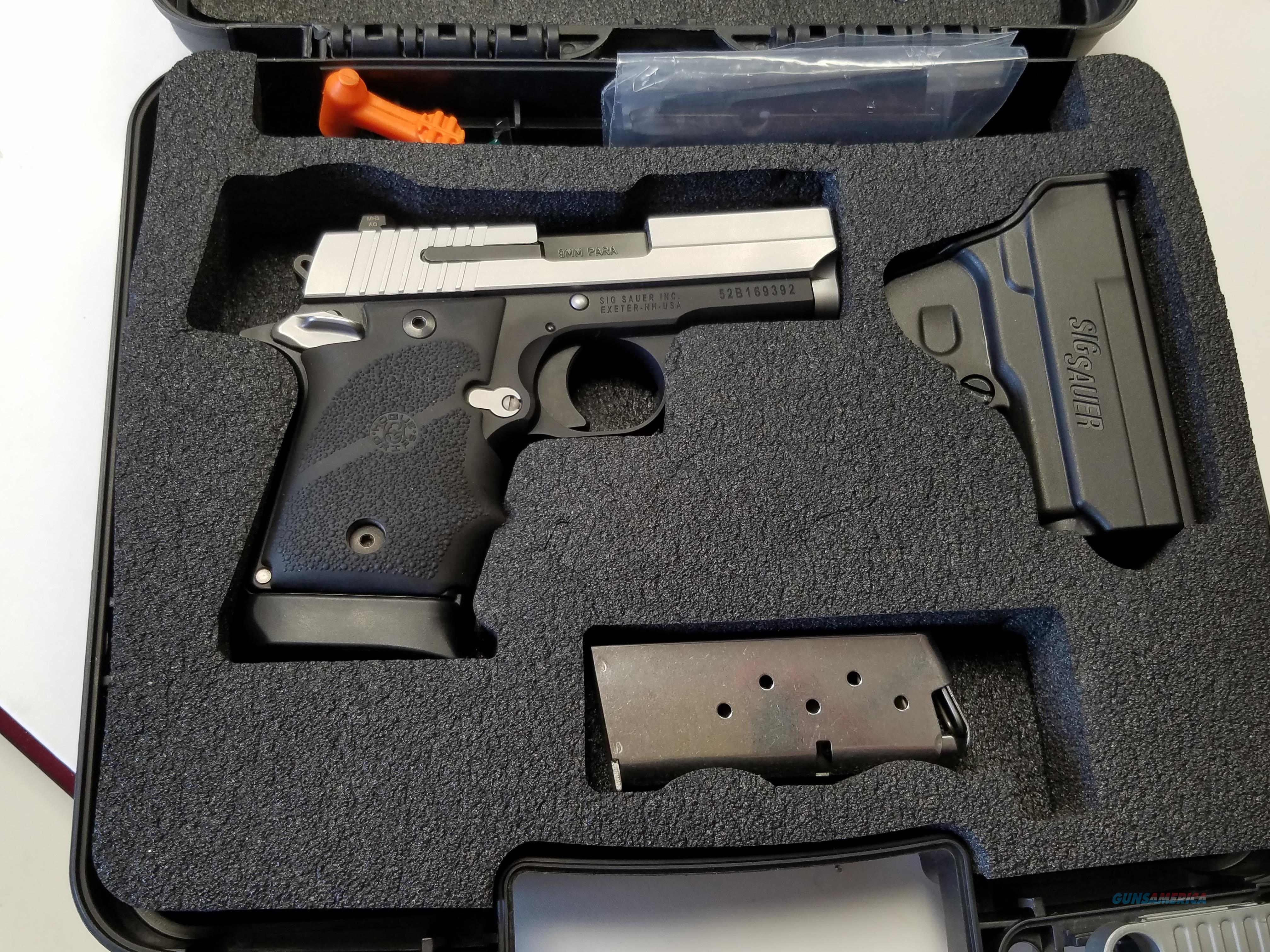 Sig Sauer P938 Blackwood Micro-compact  Bi-Tone w/ box, 2 mags, holster and extra grips!!!!  Guns > Pistols > Sig - Sauer/Sigarms Pistols > P938