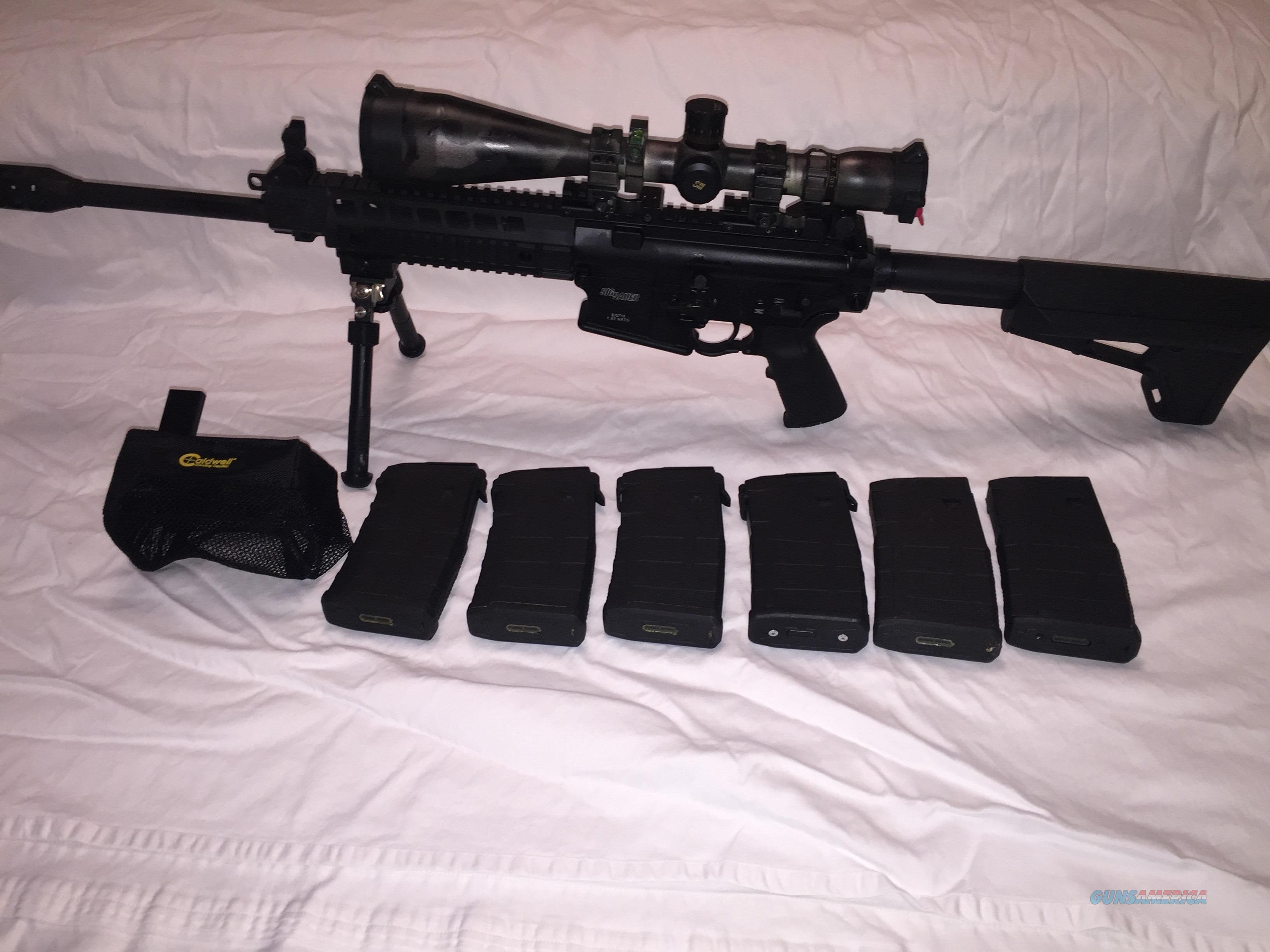 Sig Sauer 716 with Hariis Bi-Pod and Sightron III Scope, Hyperfire 24C  Guns > Rifles > Sig - Sauer/Sigarms Rifles