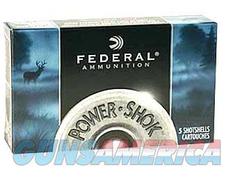 "Federal PowerShok, 16 Gauge, 2.75"", 1 Buck, Max Dram, Buckshot, 12 Pellets,5 Round Box F1641B  Non-Guns > Ammunition"
