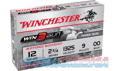 "Winchester Win 3 Gun 50 Rounds 12ga 2.75"" 00 Buck 9 Pellet Buck-Shot Shot Shell Ammunition XB1200TG - $9 Flat Rate Shipping ANY Size Order  Non-Guns > Ammunition"