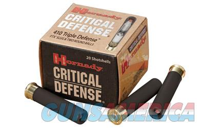 "Hornady Critical Defense, 410 Gauge, 2.5"", Defender, 20 Round Box 86238  Non-Guns > Ammunition"