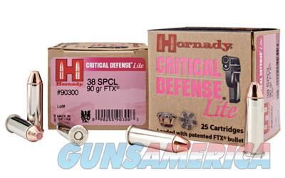 Hornady Critical Defense, 38 Special, 90 Grain, Flex Tip, 25 Round Box 90300  Non-Guns > Ammunition