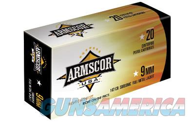 ARMSCOR 9MM 147GR FMJ 50/1000  Non-Guns > Ammunition