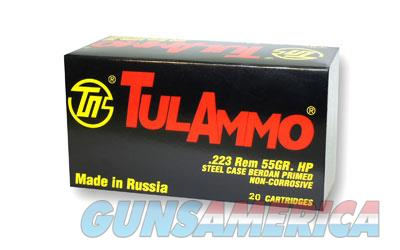 TulAmmo USA Steel Case, 223REM, 55 Grain, Hollow Point, 20 Round Box TA223552  Non-Guns > Ammunition