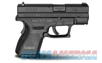 "Springfield XD40, Striker Fired, Sub Compact, 40 S&W, 3"" Barrel, Polymer Frame, Black Finish, Fixed Sights, 9Rd, 2 Magazines XD9802  Guns > Pistols > Springfield Armory Pistols > XD (eXtreme Duty)"