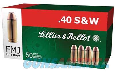 Sellier & Bellot Pistol, 40S&W, 180 Grain, Full Metal Jacket, 50 Round Box SB40B  Non-Guns > Ammunition