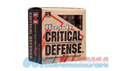 Hornady Critical Defense, 9MM, 115 Grain, Hollow Point, 25 Round Box 90250  Non-Guns > Ammunition