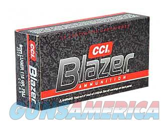 CCI/Speer Blazer, 9mm, 115 Grain, Full Metal Jacket, 50 Round Box 3509  Non-Guns > Ammunition