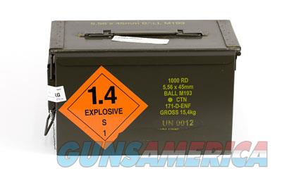 Century Arms PMP Ammunition, 5.56 NATO, 55 Grain, M193, Full Metal Jacket, 50 Round Boxes in 200 Round Sealed Sleeves, in a 1000 Round Ammo Can AM2427  Non-Guns > Ammunition