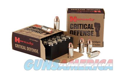 Hornady Critical Defense, 40S&W, 165 Grain, Hollow Point, 20 Round Box 91340  Non-Guns > Ammunition