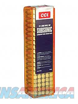 CCI 22 SUBSONIC 40GR HP 100/5000  Non-Guns > Ammunition