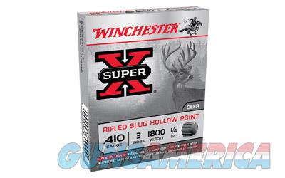 "Winchester Super-X, 410 Gauge, 3"", 0.25 oz., Slug, 5 Round Box X413RS5  Non-Guns > Ammunition"