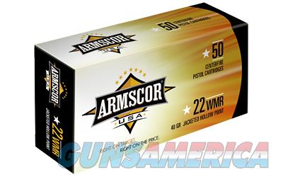 Armscor 22WMR, 40 Grain, Jacketed Hollow Point, 50 Round Box FAC22M-1N  Non-Guns > Ammunition