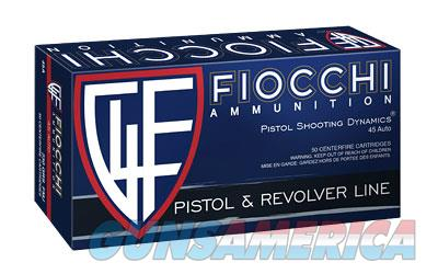 Fiocchi Ammunition Centerfire Pistol, 45ACP, 230 Grain, Full Metal Jacket, 50 Round Box 45A500XX  Non-Guns > Ammunition