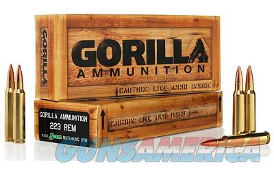 Gorilla Ammunition Company LLC 223 Rem, 77 Grain, Boat Tail Hollow Point, Sierra MatchKing, 20 Round Box GA22377SMK  Non-Guns > Ammunition