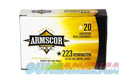 Armscor 223 Rem, 62 Grain, Full Metal Jacket, 20 Round Box FAC223-8N  Non-Guns > Ammunition