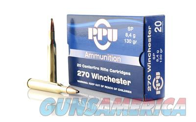 PPU 270WIN SP 130GR 20/500  Non-Guns > Ammunition