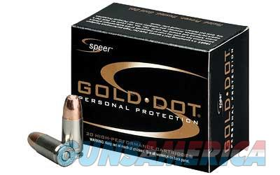CCI/Speer Speer Gold Dot, 9MM, 115 Grain, Hollow Point, 20 Round Box 23614  Non-Guns > Ammunition