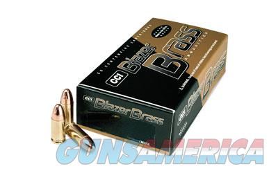CCI/Speer Blazer Brass, 9mm, 115 Grain, Full Metal Jacket, 50 Round Box 5200  Non-Guns > Ammunition