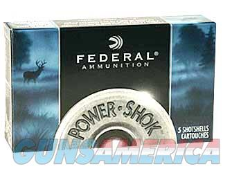 "Federal PowerShok, 410 Gauge, 2.5"", Max Dram, .25oz, Rifled Slug, Hollow Point,5 Round Box F412RS  Non-Guns > Ammunition"