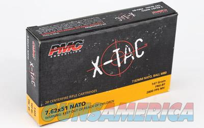 PMC XTAC 762NATO 147GR FMJ BT 20/500  Non-Guns > Ammunition