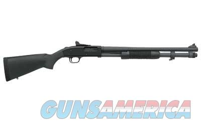 "Mossberg 590A1, Special Purpose, Pump Action, 12 Gauge, 3"" Chamber, 20"" Heavy Wall Barrel, Parkerized Finish, Synthetic Stock, Ghost Ring Sight, 8Rd, 51663  Guns > Shotguns > Mossberg Shotguns > Pump > Sporting"