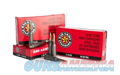 Century Arms Red Army Standard  545X39  60 Grain  Full Metal Jacket  20 Round Box AM2051B - $9 Flat Rate Shipping on ANY Size Order  Non-Guns > Ammunition