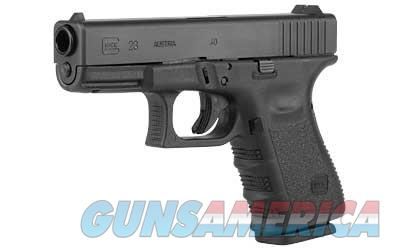 "Glock 23 Generation 3 Gen 3 .40SW 4.02"" Barrel 13rd Glock OEM Rail 2350203 - 2 Magazines - New In Box - FREE SHIPPING  Guns > Pistols > Glock Pistols > 23"