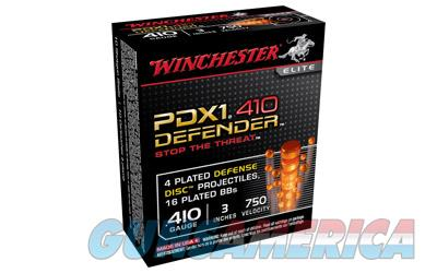 "Winchester Supreme Elite  410 Gauge  3"" Buckshot  3 Defense Discs  12 BB Pellets  10 Round Box S413PDX1 - $9 Flat Rate Shipping on ANY Size Order  Non-Guns > Ammunition"