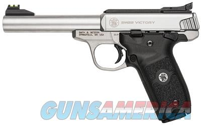 Smith & Wesson Victory .22lr Stainless Finish 10rd Adjustable Fiber Optics Sights 108490 - New In Box  Guns > Pistols > Smith & Wesson Pistols - Autos > .22 Autos