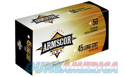Armscor 45LC, 255 Grain, Lead, 50 Round Box FAC45LC-1N  Non-Guns > Ammunition