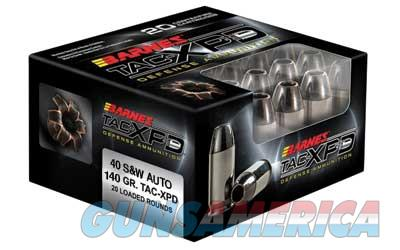 Barnes TAC-XPD, 40S&W, 140 Grain, TAC-XP, Hollow Point, Lead Free, 20 Round Box 21554  Non-Guns > Ammunition