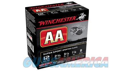"Winchester AA Supersport Sporting Clay, 12 Gauge, 2.75"", #8, 1.125 oz., Shotshell, 25 Round Box AASC128  Non-Guns > Ammunition"