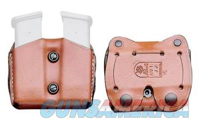 Desantis Double Magazine Pouch, Glock 17/22, Ambidextrous, Tan Leather A01TJJJZ0  Non-Guns > Holsters and Gunleather > Other