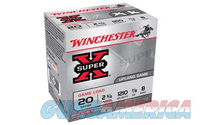 "Winchester Super-X  20 Gauge  2.75""  #8.5  2.5 Dram  0.875oz  Shotshell  25 Round Box XU208 - $9 Flat Rate Shipping on ANY Size Order  Non-Guns > Ammunition"