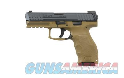 "HK VP9, Semi-automatic Striker Fired Pistol, 9MM, 4.09"" Barrel, Polymer Frame, Flat Dark Earth Finish, 15Rd, 2 Magazines, 2 Additional Backstraps and 2 Additional Sets of Lateral Grip Plates M700009FDE-A5  Guns > Pistols > Heckler & Koch Pistols > Polymer Frame"